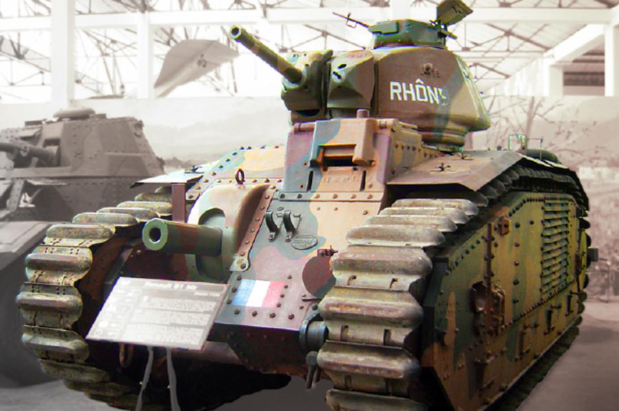Танк Char B-1bis в Музее бронетехники в Сомюре, Франция Источник – armchairgeneral.com - Французский танк Char B-1. Часть II | Военно-исторический портал Warspot.ru