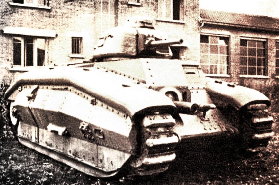 Танк Char B-1ter Источник – france40.e-monsite.com - Французский танк Char B-1. Часть II | Военно-исторический портал Warspot.ru