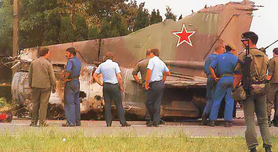На месте катастрофы МиГ-23 в Бельгии /Источник: http://nato.radioscanner.ru/ - 20 интересных фактов из истории истребителей | Военно-исторический портал Warspot.ru