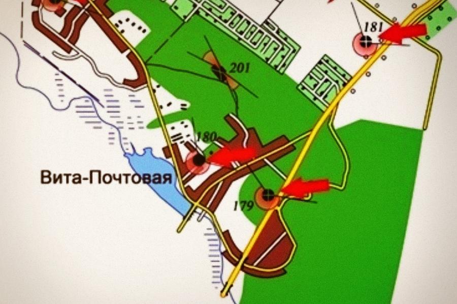 Схема расположения ДОТа №180
