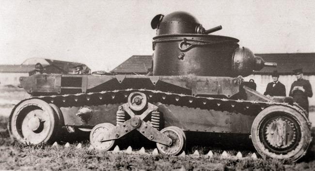 Американский танк М1921 конструктора Кристи  Источник – aviarmor.net -  Первый советский серийный танк | Военно-исторический портал Warspot.ru