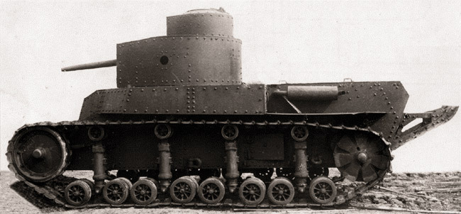 Прототип танка Т-24 образца 1930 года  Источник – noos.com.ua -  Первый советский серийный танк | Военно-исторический портал Warspot.ru