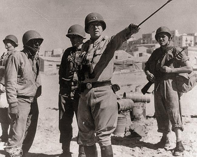 Джордж Паттон, август 1943 года  Источник: ww2today.com - 10 фактов о генерале Паттоне | Военно-исторический портал Warspot.ru