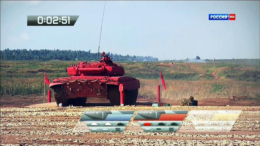 Танк Т-72Б на огневой позиции во время соревнований по танковому биатлону Источник — kragor.ru - Самый спортивный танк в мире   Военно-исторический портал Warspot.ru