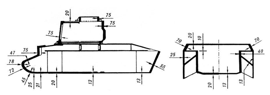 Схема бронирования Mk.ІI А12