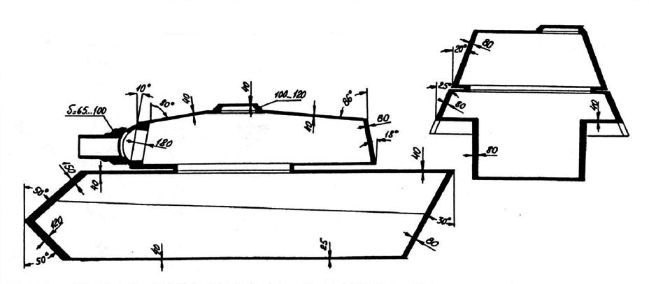 Схема бронирования Pz.Kpfw.VI