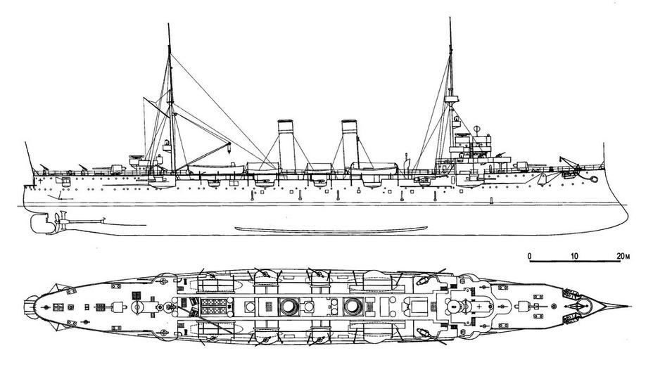 Схема учебного крейсера «