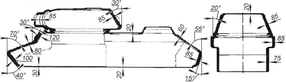Схема бронирования танка КВ-13