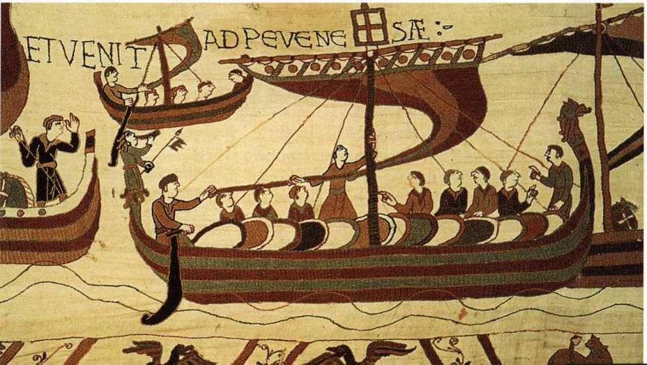 Корабль Вильгельма (гобелен из Байё, фрагмент) upload.wikimedia.org - Норвежское и нормандское вторжения в Англию | Военно-исторический портал Warspot.ru