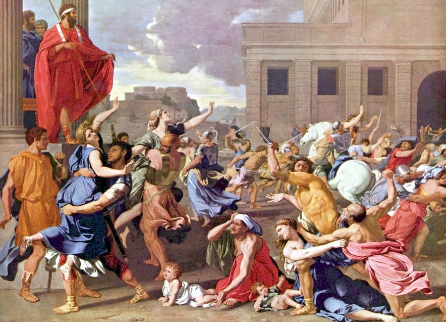 Похищение сабинянок (художник Николя Пуссен, 1636 г.) - Легенды старинных войн Рима | Военно-исторический портал Warspot.ru