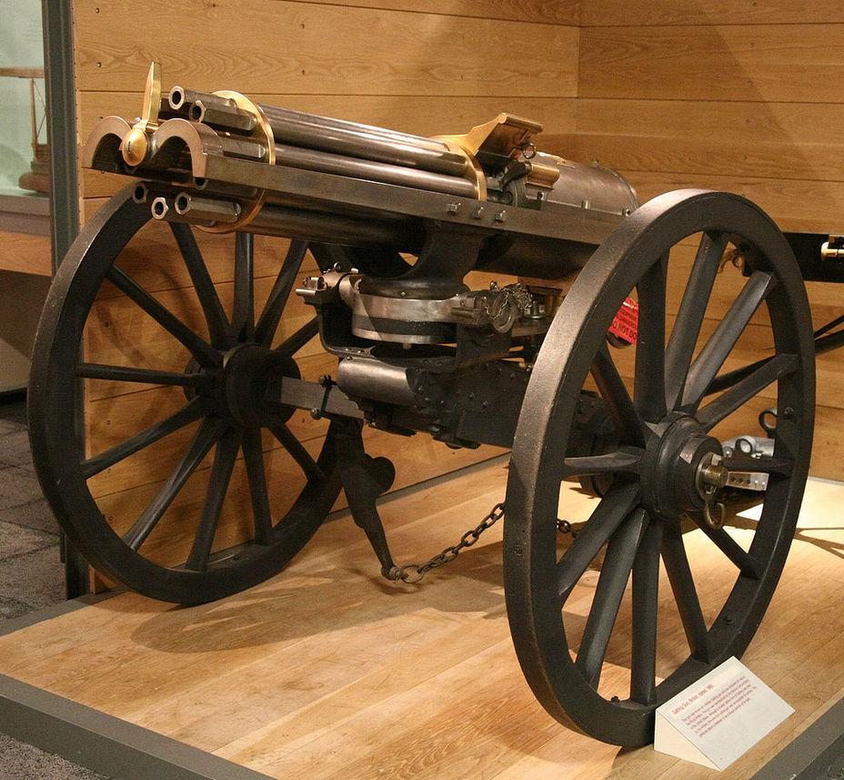 Пулемет Гатлинга образца 1865 года британского производства - Предыстория современных многоствольных пулеметов | Военно-исторический портал Warspot.ru