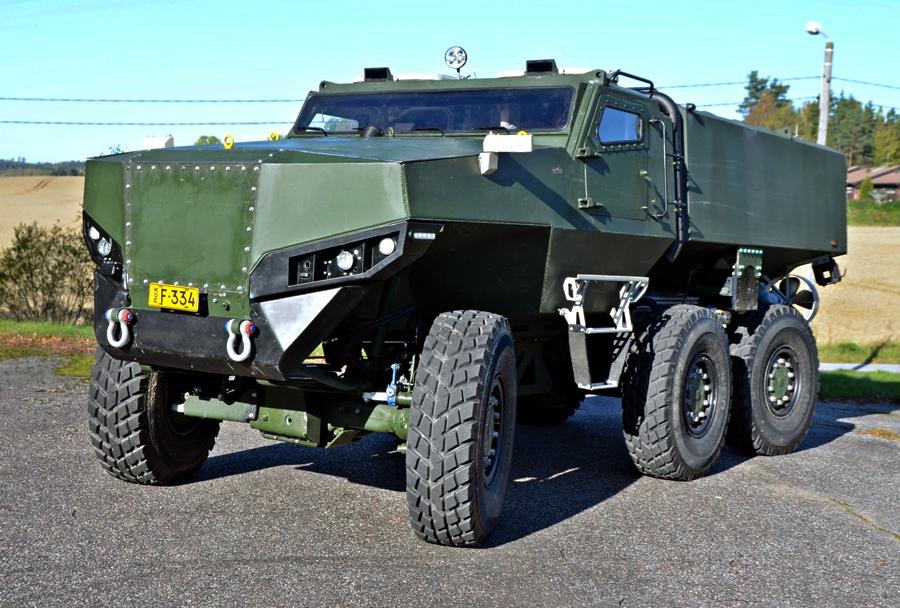 Броневик-амфибия PMPV 6×6 MiSu obramba.com - Финны создали плавающий бронированный грузовик | Военно-исторический портал Warspot.ru