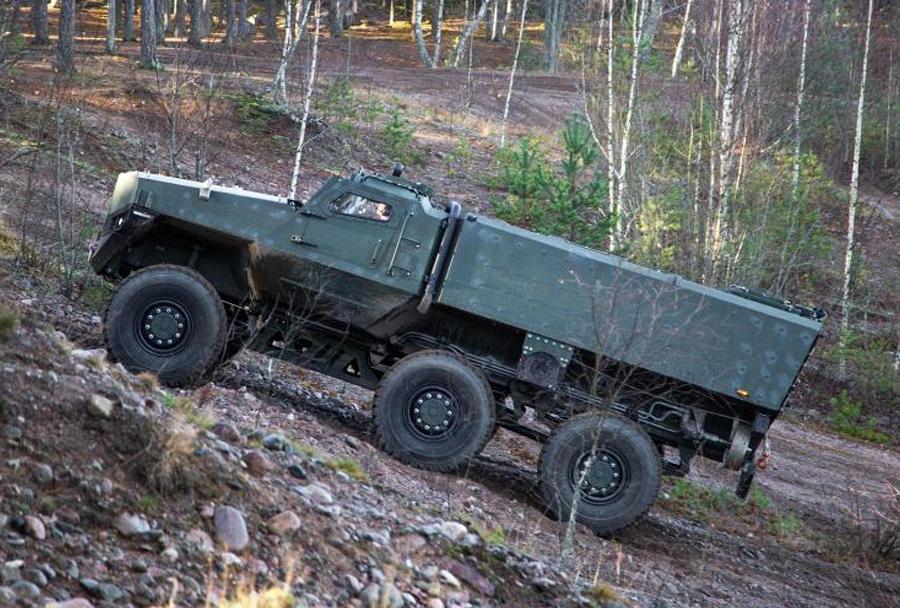 Броневик-амфибия PMPV 6×6 MiSu на тестовых испытаниях obramba.com - Финны создали плавающий бронированный грузовик | Военно-исторический портал Warspot.ru