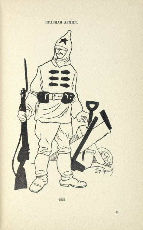 Красная армия в 1921 году. Рисунок Бориса Ефимова http://www.ageod-forum.com - Война красных и белых: люди, проигравшие всё | Военно-исторический портал Warspot.ru