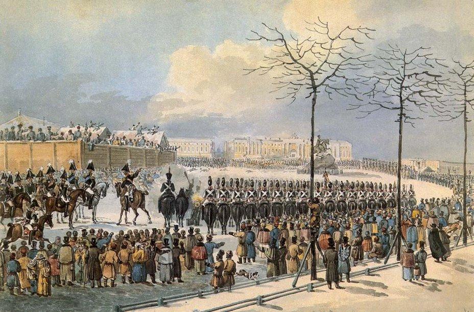 Восстание на Сенатской площади проигрыш романтиков Военно   К И Кольман 14 декабря 1825 года на Сенатской площади