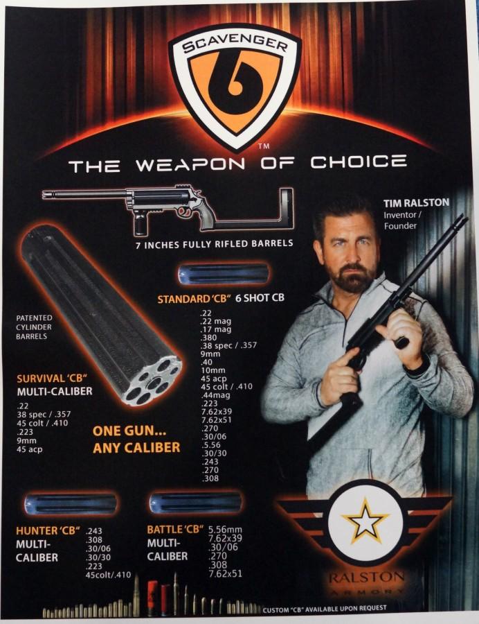 Тим Ралстон на рекламном постере винтовки Scavenger 6 thetruthaboutguns.com - Компания Ralston Armory создала мультикалиберную винтовку | Военно-исторический портал Warspot.ru