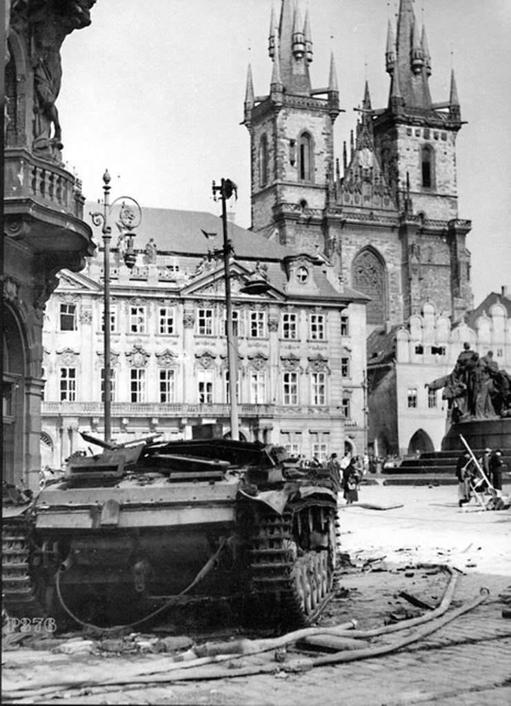 StuG Ausf.B knocked out in Prague