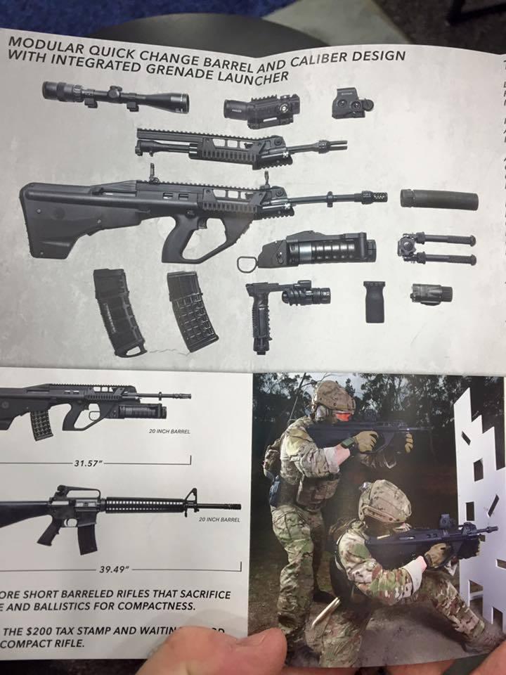 Рекламная брошюра Lithgow Arms F90 thefirearmblog.com - Австралийский Steyr AUG для всех желающих | Военно-исторический портал Warspot.ru