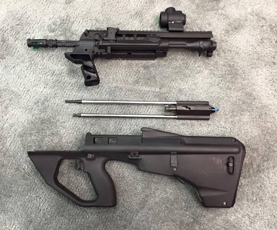Lithgow Arms F90 в разобранном виде thefirearmblog.com - Австралийский Steyr AUG для всех желающих | Военно-исторический портал Warspot.ru