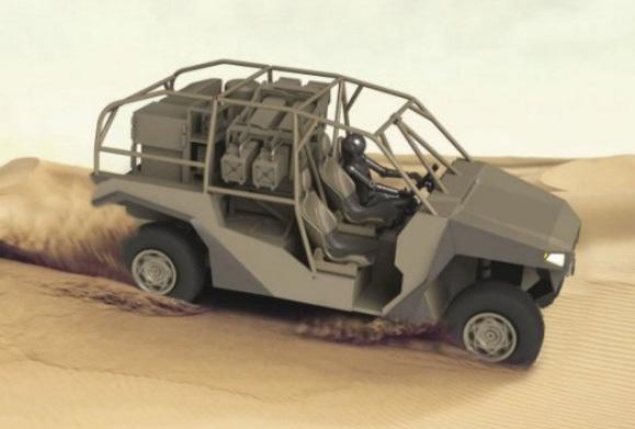 Компьютерная модель багги Polaris MRZR 4 с пусковой установкой Spike NLOS janes.com - Когда багги опаснее танка | Военно-исторический портал Warspot.ru