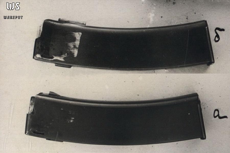 Обычный магазин ППД-34 (внизу) и доработанный на НИОП (вверху) - Пистолет-пулемёт Дегтярёва: в поисках облика | Военно-исторический портал Warspot.ru