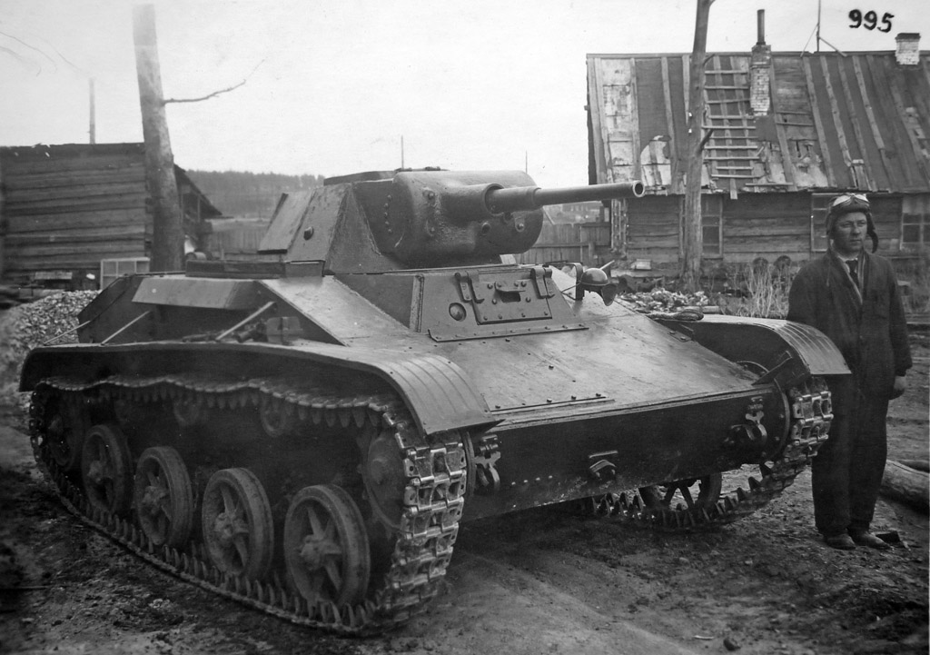 Pilot standing beside the T-45 - Credits: warspot.ru