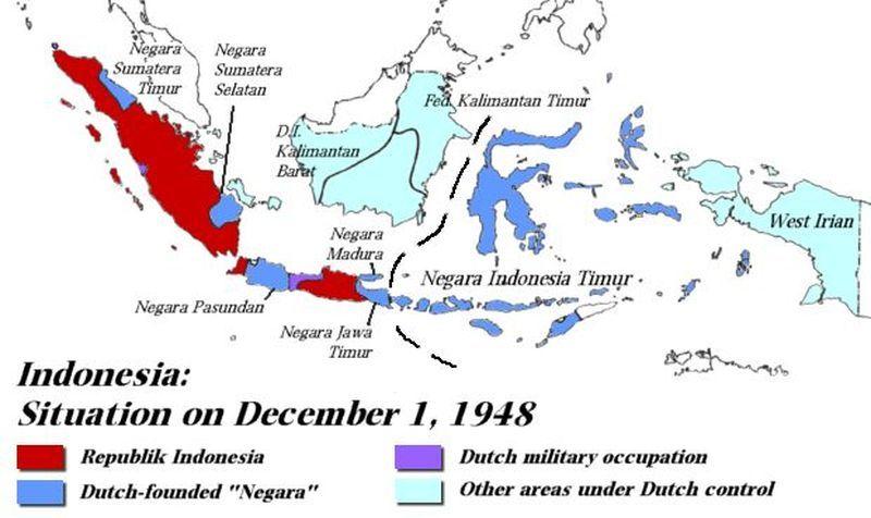Положение в Индонезии на 1 декабря 1948 года - Рождение Индонезии: победа над федерализацией | Военно-исторический портал Warspot.ru
