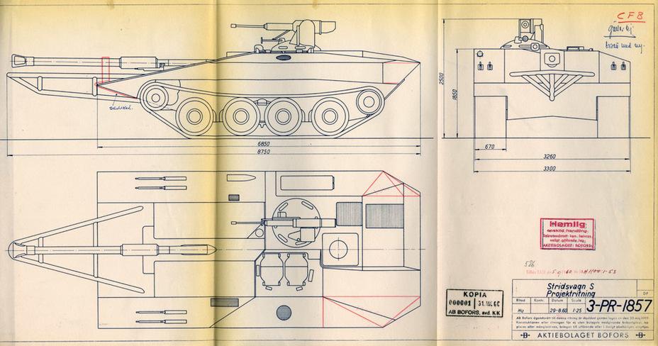 ?Переработанный вариант Strv S, август 1960 года - Удивительный танк Strv 103 | Военно-исторический портал Warspot.ru