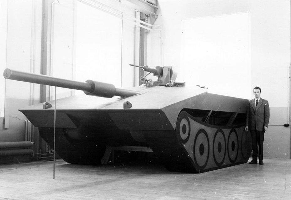 ?Полноразмерный макет Strv S, 1960 год. В таком виде танк позже изготовили в металле - Удивительный танк Strv 103 | Военно-исторический портал Warspot.ru