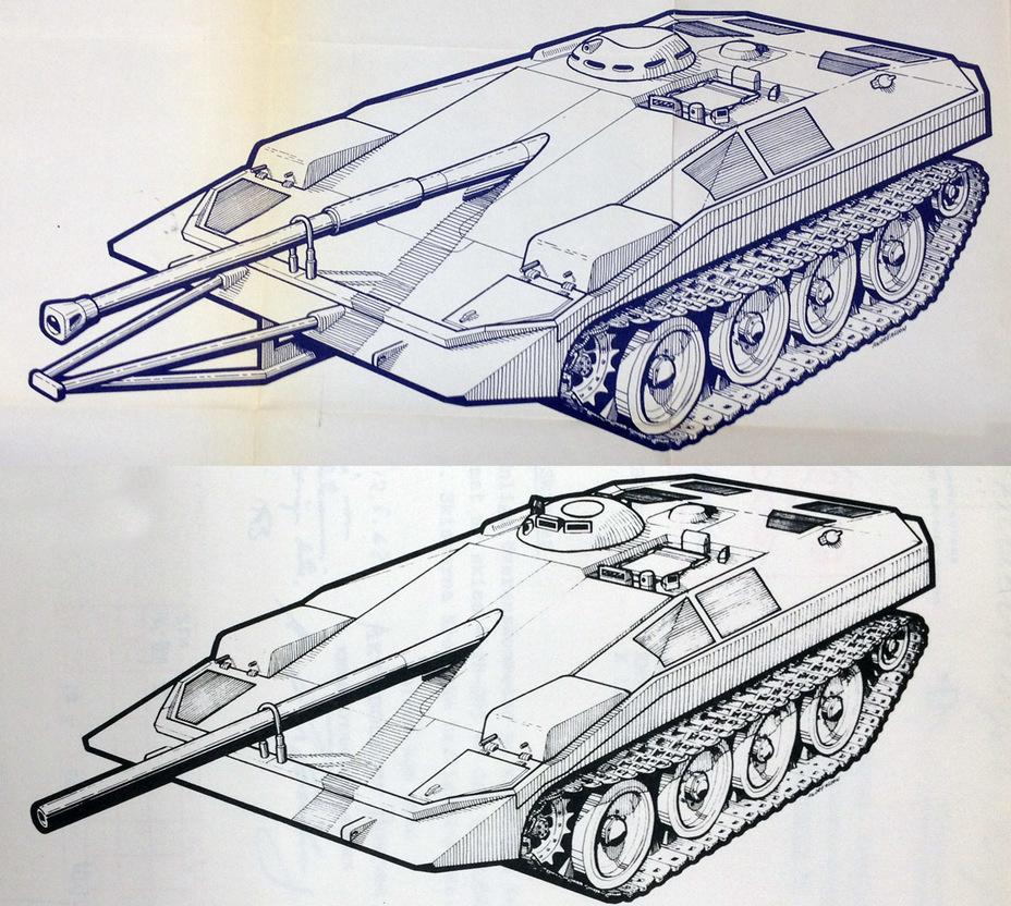 ?Эволюция внешнего вида Strv S нулевой серии, начало 1962 года - Удивительный танк Strv 103 | Военно-исторический портал Warspot.ru