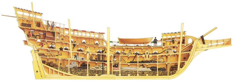 «Манильский галеон» в разрезе - Кругосветный вояж Джорджа Энсона: захват «манильского галеона» | Военно-исторический портал Warspot.ru