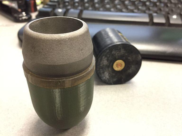«Напечатанная» граната M781 popularmechanics.com - RAMBO: гранатомет из 3D-принтера | Военно-исторический портал Warspot.ru