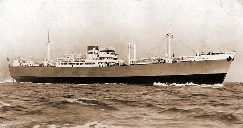 Первая жертва U 486, пароход «Сильверлаурель». Все 65 человек, находившиеся на его борту, выжили. http://uboat.net - Рождество в холодных водах Ла-Манша | Военно-исторический портал Warspot.ru