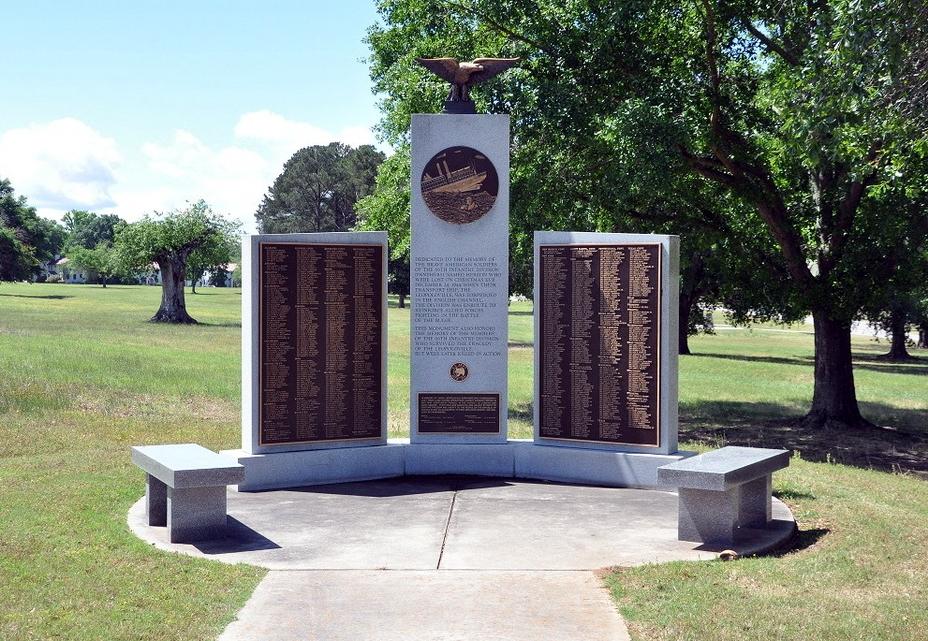 Мемориал погибшим на «Леопольдвилле» и в Арденнах солдатам 66-й пехотной дивизии армии США на военной базе Форт Беннинг в штате Джорджия. http://leopoldville.org - Рождество в холодных водах Ла-Манша | Военно-исторический портал Warspot.ru
