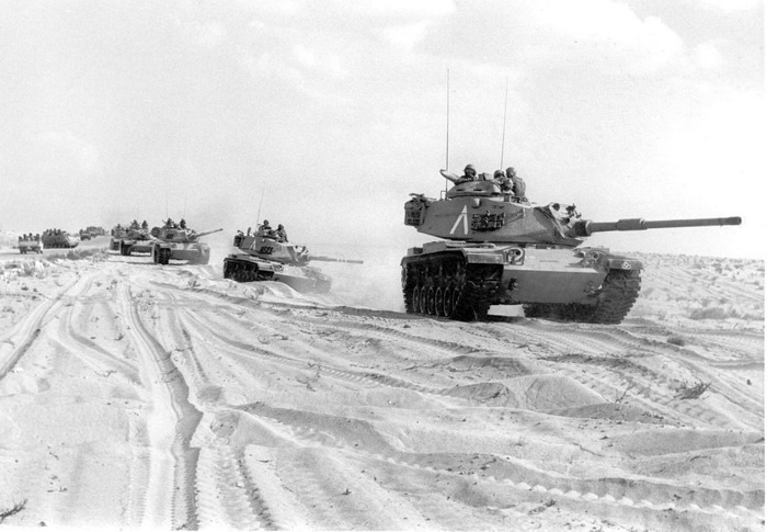 Танки М60А1 Армии обороны Израиля, Синай, октябрь 1973 bukvoed.livejournal.com - Синайский танковый разгром | Военно-исторический портал Warspot.ru