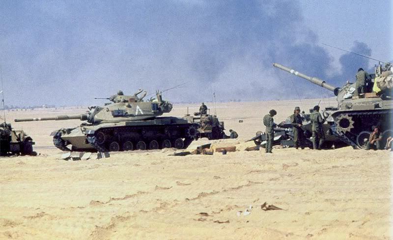 Танки М60А1 Армии обороны Израиля пополняют боекомплект, Синай, октябрь 1973 bukvoed.livejournal.com - Синайский танковый разгром | Военно-исторический портал Warspot.ru