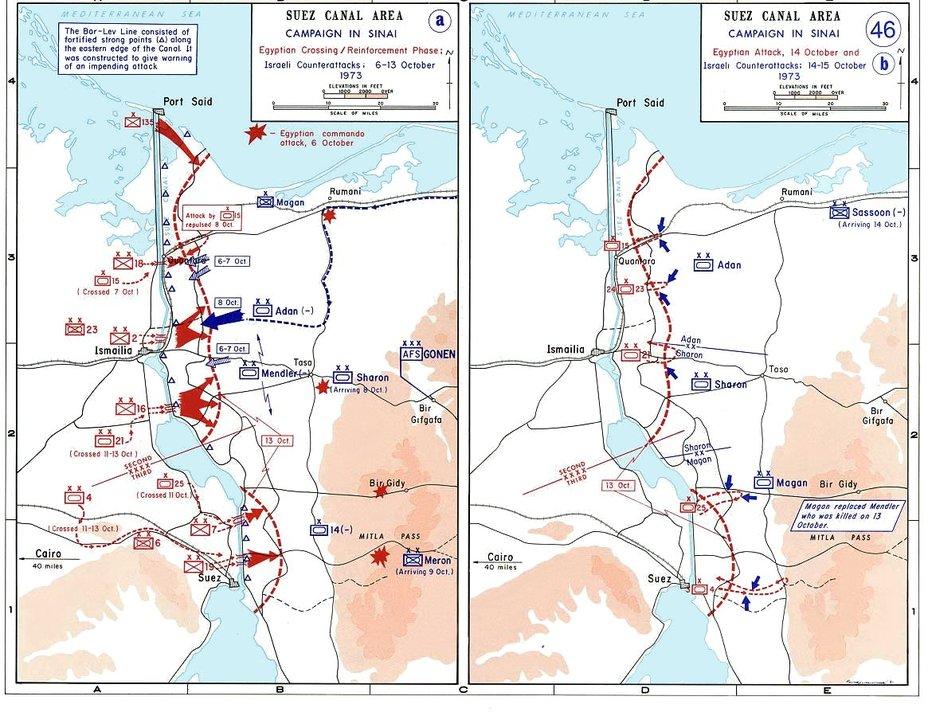 Боевые действия на Синайском фронте с 6 по 15 октября commons.wikimedia.org - Синайский танковый разгром | Военно-исторический портал Warspot.ru