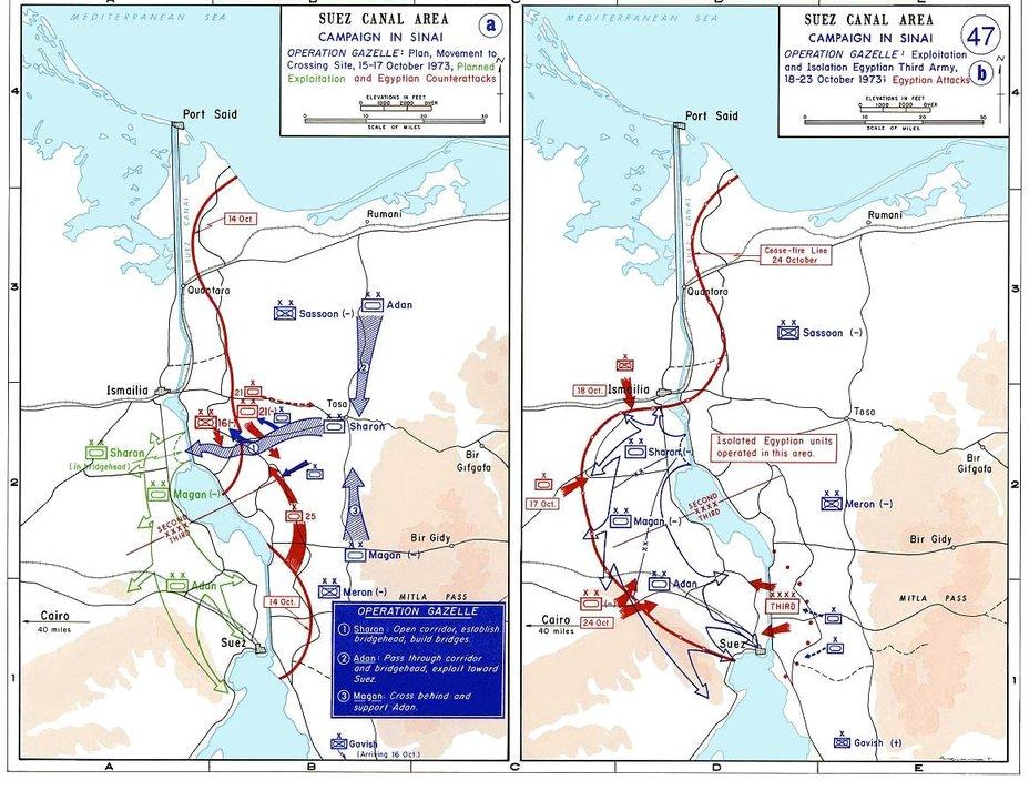 Боевые действия на Синайском фронте с 15 по 23 октября commons.wikimedia.org - Синайский танковый разгром | Военно-исторический портал Warspot.ru