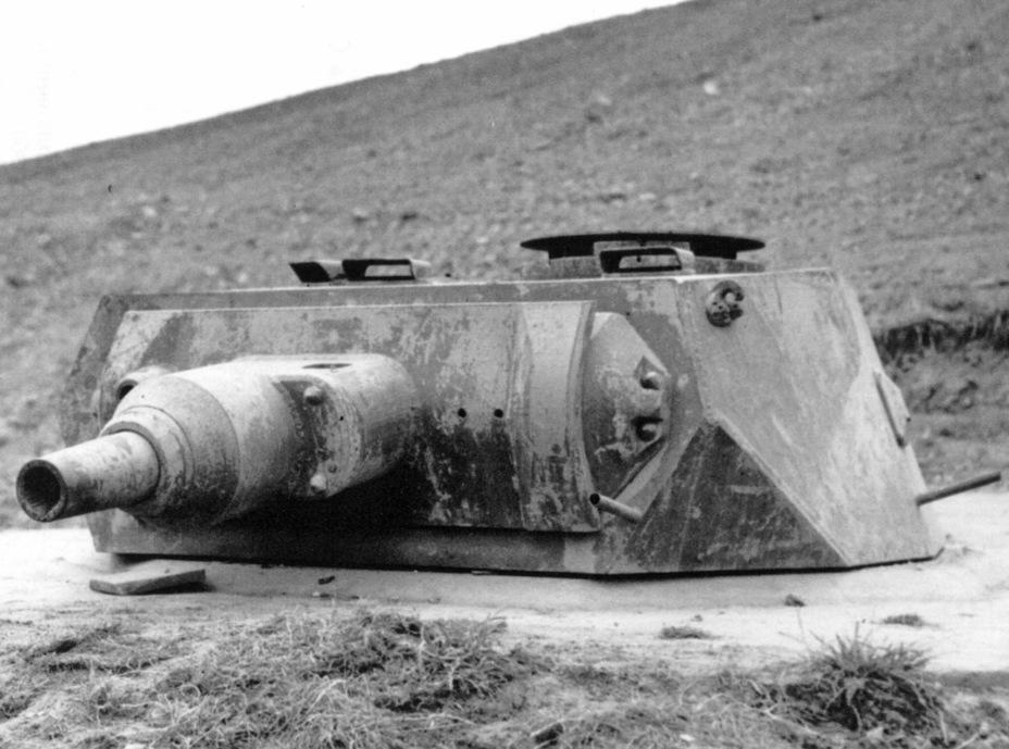 ?Башня VK 30.01 на оборонительной линии, лето 1944 года. VK 65.01 должен был иметь похожую башню, но с толщиной брони 80 мм - Немецкий лев | Военно-исторический портал Warspot.ru