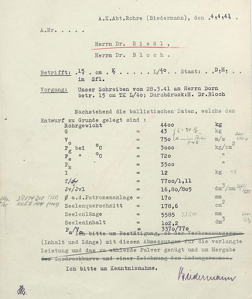 ?В этом документе, датированном 4 апреля 1941 года, имеется одно из первых упоминаний будущего VK 70.01 - Немецкий лев | Военно-исторический портал Warspot.ru