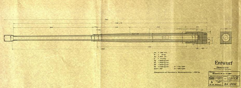 ?105-мм пушка с длиной ствола 70 калибров стала к весне 1942 года основным вариантом вооружения VK 70.01 - Немецкий лев | Военно-исторический портал Warspot.ru