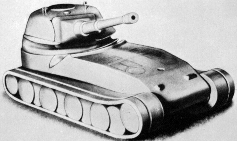 ?Один из вариантов Pz.Kpfw. L?we, датированный апрелем-маем 1942 года. В данном случае танк имеет 105-мм орудие и башню, смещенную к корме. Как можно заметить, лобовой лист корпуса корпуса гнутый - Немецкий лев | Военно-исторический портал Warspot.ru