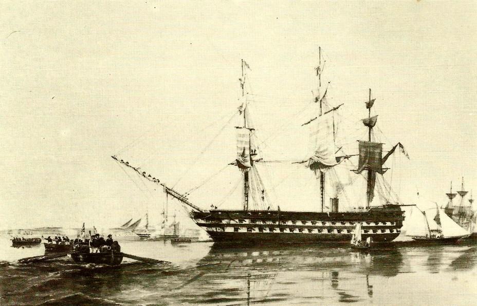 Британский линейный корабль «Агамемнон», 1852 год - Крымская война: взгляд с той стороны | Военно-исторический портал Warspot.ru