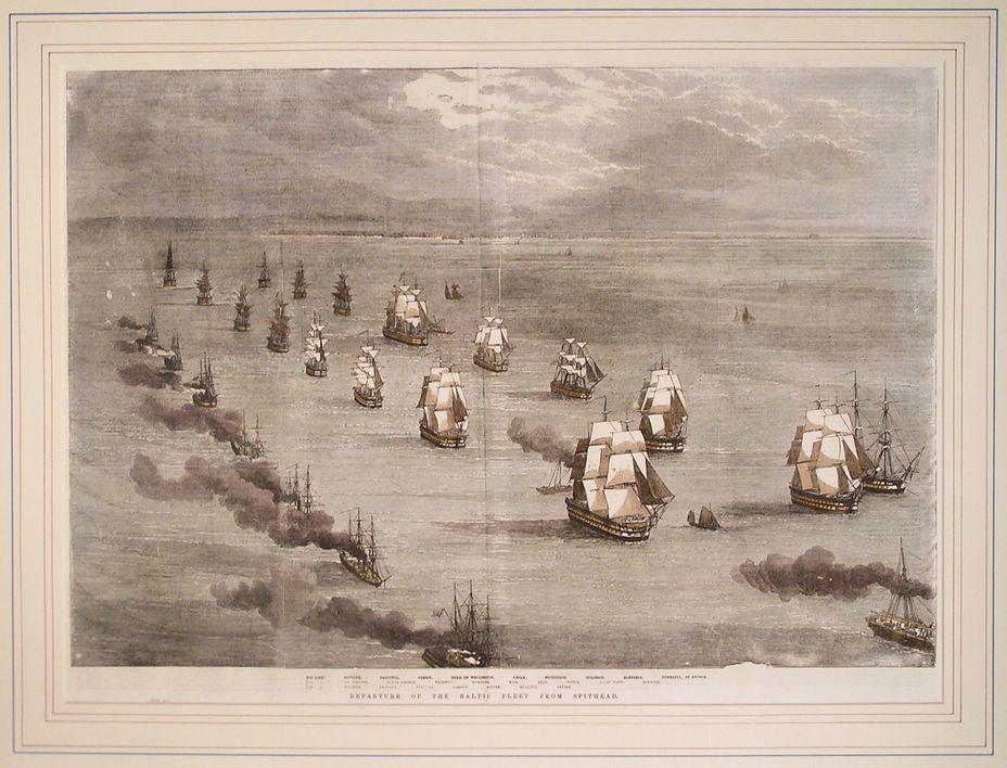 Английский флот следует из Спитхэда в Балтийское море - Крымская война: что делать? | Военно-исторический портал Warspot.ru