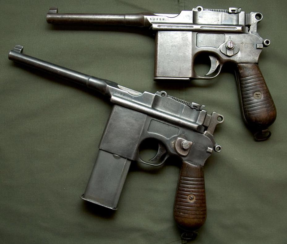 Автоматическая версия «Маузера» С96 – модель M1932 (M712) с разными магазинами емкостью 10 и 20 патронов. - Ваше слово, товарищ «маузер»! | Военно-исторический портал Warspot.ru