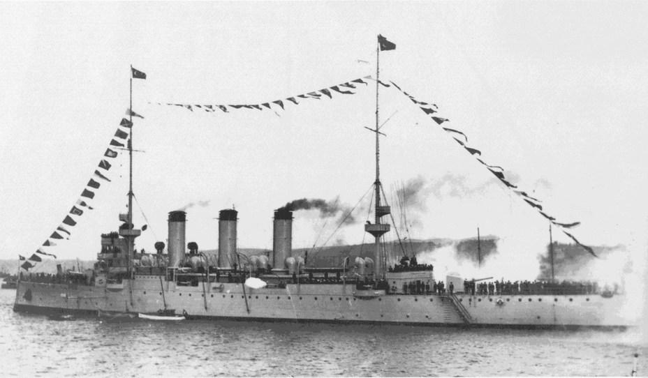 Крейсер «Гамидие» в Дарданелах, 1932 год - Забытый десант забытой армии | Военно-исторический портал Warspot.ru