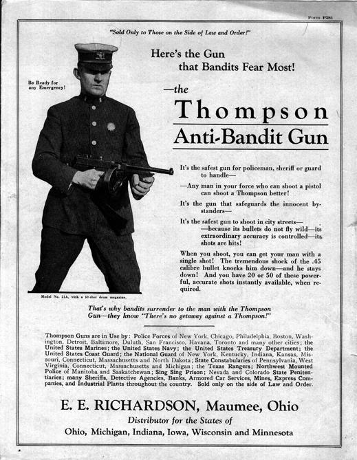 Рекламная брошюра 20-х годов ptd.net - «Томми-ганы» помогут перевооружить американских полицейских | Военно-исторический портал Warspot.ru