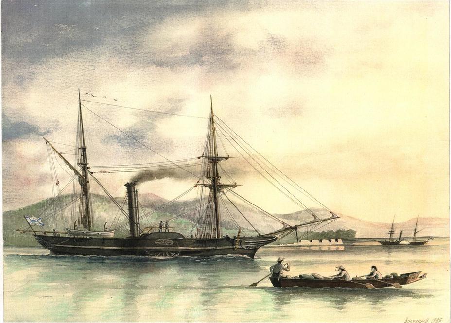 Русские корабли на Амуре, 1854 год - Крымская война: китайские пираты и игра по разным правилам | Военно-исторический портал Warspot.ru