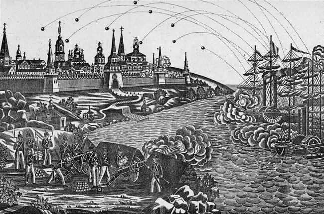 Обстрел 19 июля - Крымская война: Соловки и крейсерство на Севере | Военно-исторический портал Warspot.ru