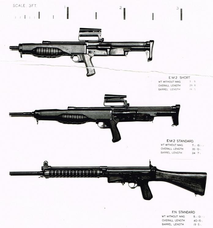Опытные винтовки EM-2 (в стандартном и укороченном вариантах) и FN FAL. - Невезучий британский булл-пап | Военно-исторический портал Warspot.ru